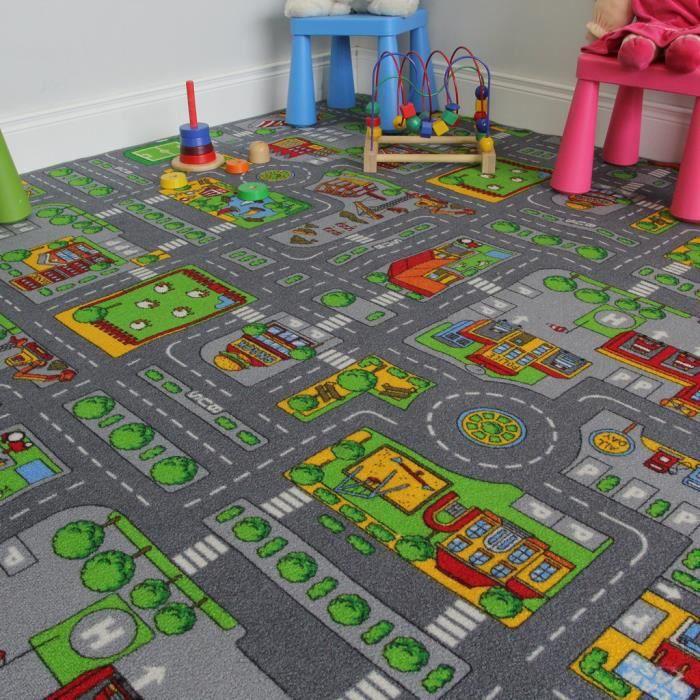 Tapis de Jeux Enfant - Ville, Rues et Routes 200x200cm