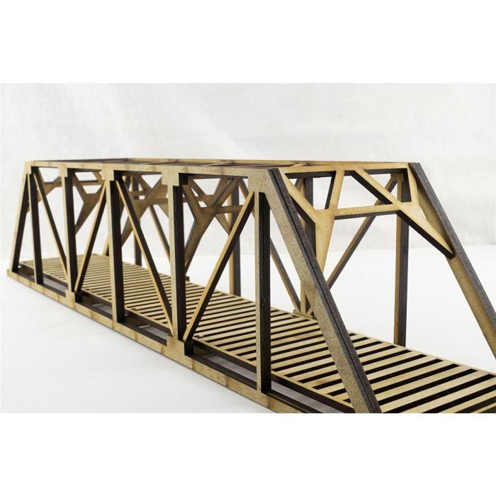 Pont à Poutres de Chemin de Fer Jauge OO/HO par WWS – Paysage miniature de Chemins de Fer