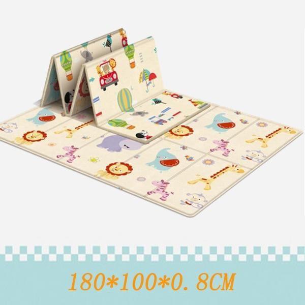 Tapis d'éveil,180*100CM pliable tapis pour enfants enfants jouets dessin animé bébé tapis de jeu Double face bébé - Type PJ3744A