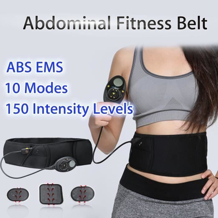 10 Modes EMS Stimulation Abdominale Ceinture Entraîneur Musculation Fitness Kit Ve74299