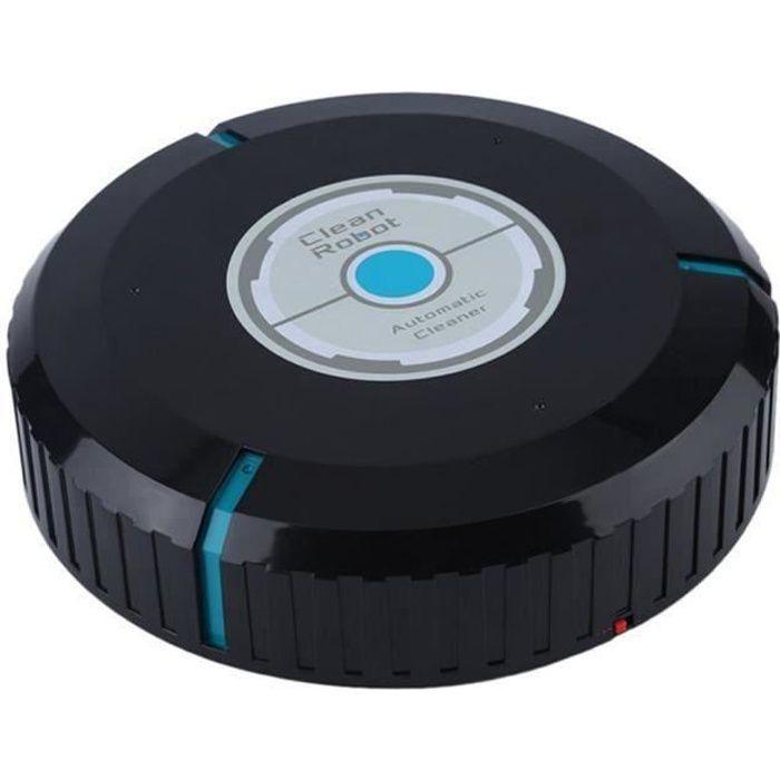 Aspirateur robot silencieux, Balayeuse robot, Robot Laveur de sol, Aspirateur robot laveur avec 20 feuilles de poussière - Noir