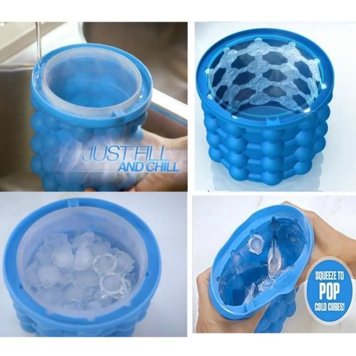 Seau à Glace En Silicone Machine à Glaçons Bleu Go54094