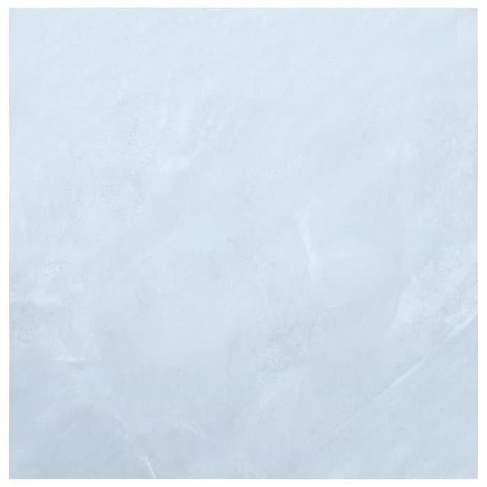 40098 Planches de plancher autoadhésives - Planches de sol Revetement En Planche 5,11 m² PVC Blanc Marbre Meuble©