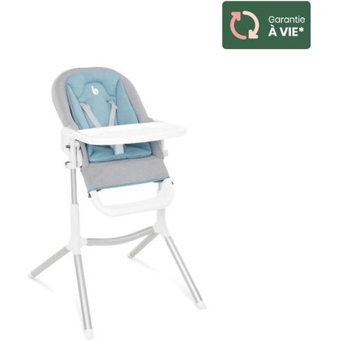 Babymoov Chaise Haute Slick 2 en 1 - Transat avec Réducteur nouveau-né - Tablette ouverture latérale - 2 roues