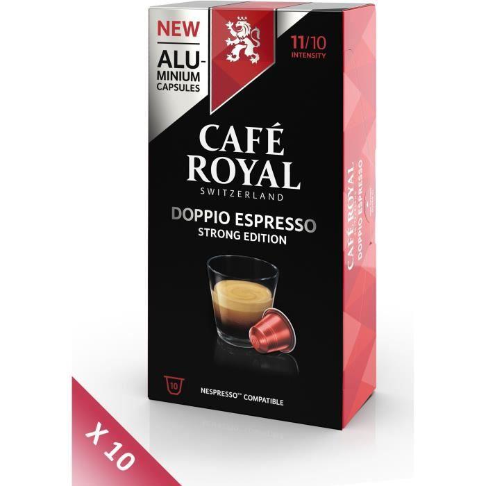 Lot de 10 CAFE ROYAL compatible Nespresso Alu Doppio Espresso x10
