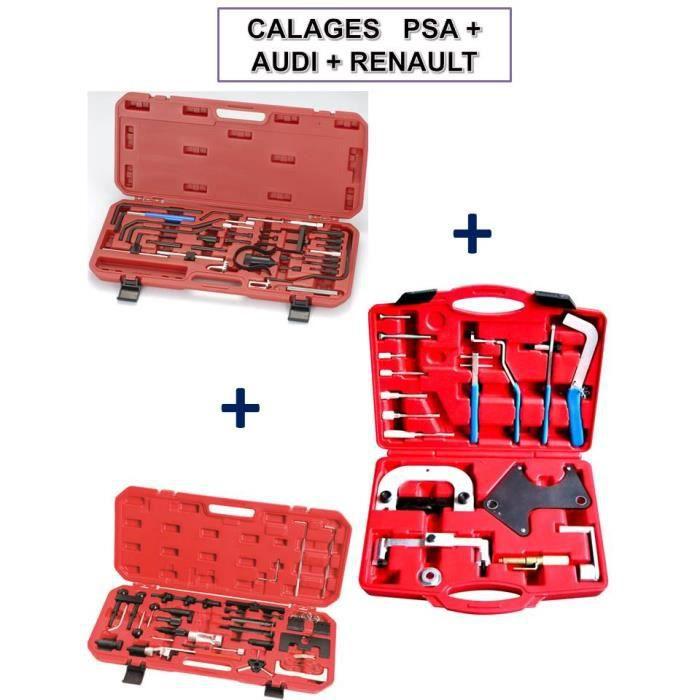Coffrets calage Courroie Distribution moteur essence/diesel PEUGEOT CITROEN + RENAULT + VW AUDI