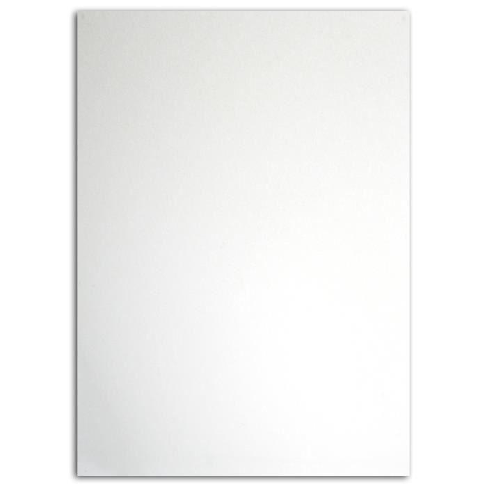 MLLE TOGA Tissu plastifié thermocollant - A5 - blanc
