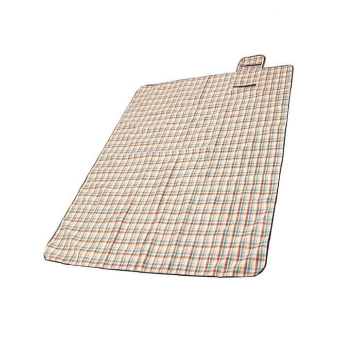 Couverture de pique-nique Beach Mat avec dos imperméable extérieur pliable pique-nique résistant à l'eau Couverture pratique