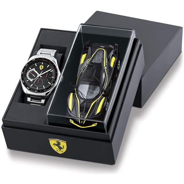 Scuderia Ferrari Homme Analogique Quartz Montre avec Bracelet en Acier Inoxydable 0870037 72