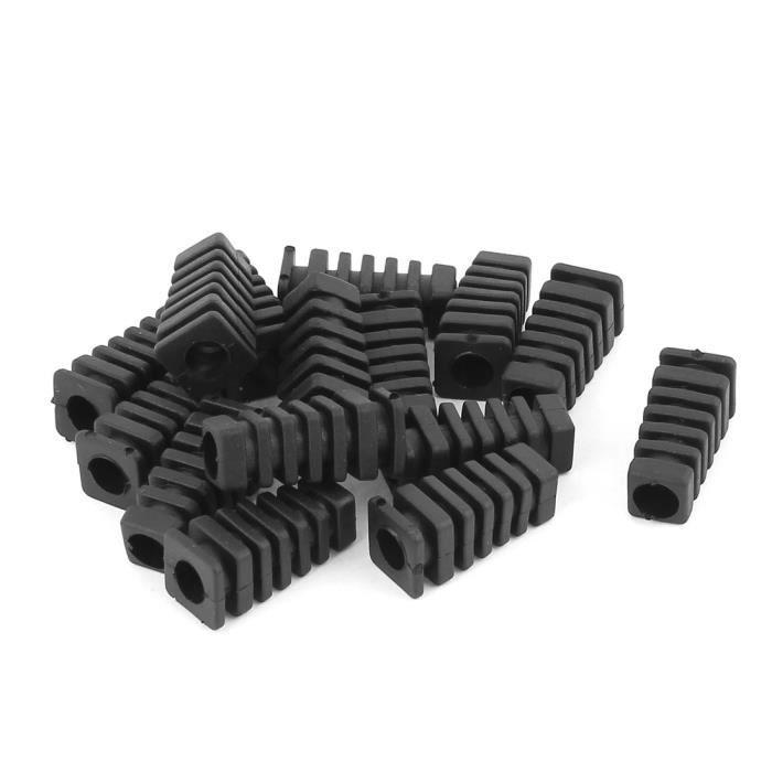 15 Pièces Caoutchouc Soulagement De Traction Câble Coffre Protection Câble Fil Manchon accouplement Durite 27mm x 7mm