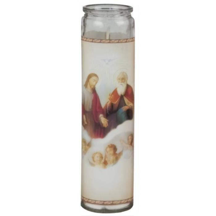 TOM bougie religion 21 x 5,5 cm jésus et dieu