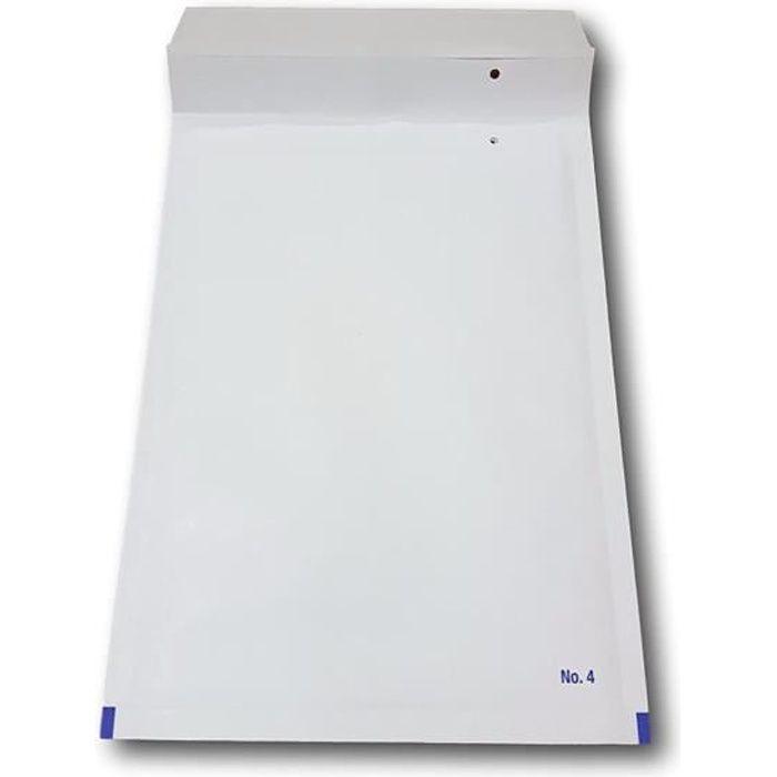 100 Enveloppes papier à Bulles blanche PRO D-4 180 x 265 mm (dimension pochette intérieure) type D4 enveloppe matelassé blanc 200 x