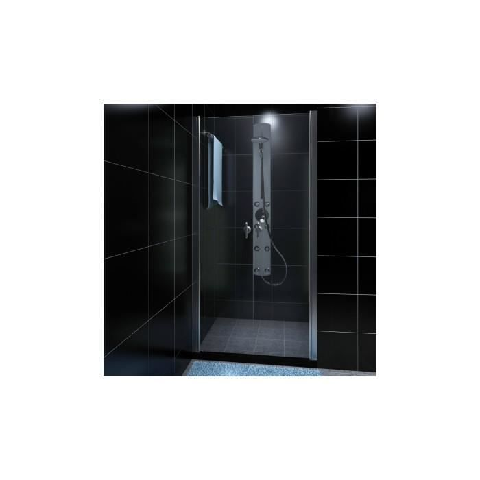 porte de douche battante verre s curit transparent 80cm achat vente porte de douche porte. Black Bedroom Furniture Sets. Home Design Ideas