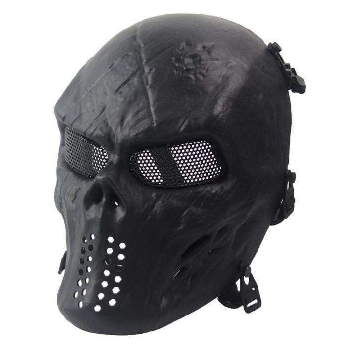 moto etc.. Ghost Style Deux trou Noir Cagoule Squelette T/ête de mort Masque visage Coque Airsoft Ski