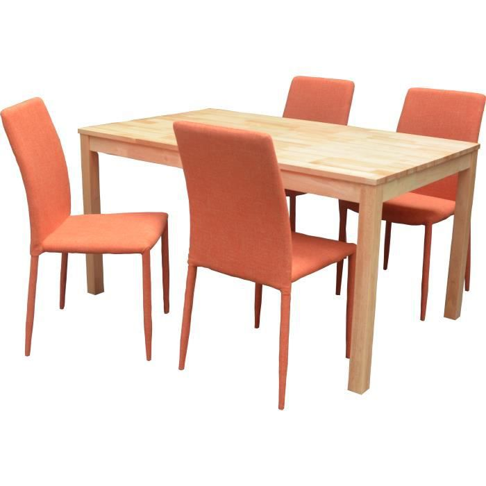 Chaise de salle a manger orange for Mobilier salon salle a manger