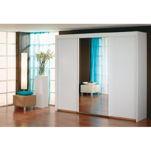 armoire portes coulissantes avec miroir sur p achat. Black Bedroom Furniture Sets. Home Design Ideas