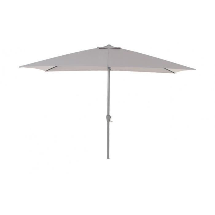 parasol fidji rect 2x3m hesperide gris clair achat vente parasol parasol fidji 2x3m gris. Black Bedroom Furniture Sets. Home Design Ideas