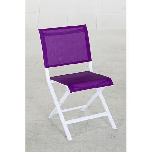 chaise pliante montezalo aluminium violet achat vente chaise fauteuil jardin chaise. Black Bedroom Furniture Sets. Home Design Ideas