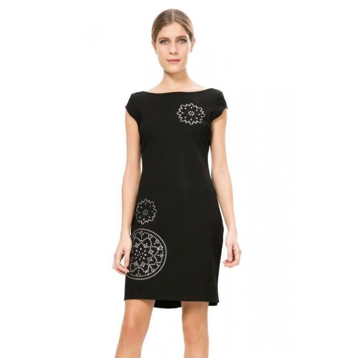 Robe Desigual Cora 67v20g8 Noir Noir Achat Vente Robe Cdiscount