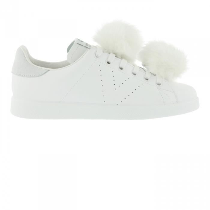 165efcac2724a Chaussures Deportivo Piel Pompones Blanco W h17 - Victoria Blanc ...
