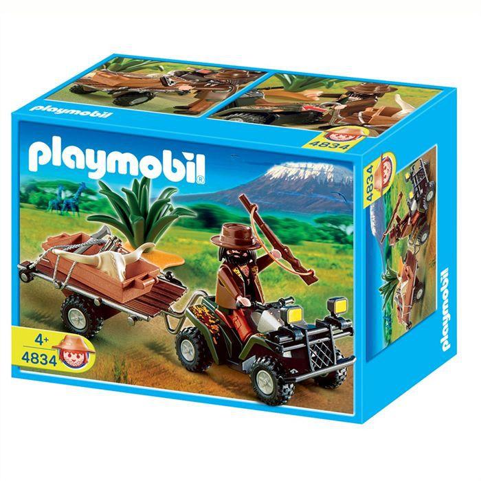 UNIVERS MINIATURE Playmobil Quad safari et braconnier 4834