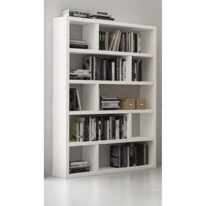 biblioth que tag re dublin 10 casiers blanc mat achat. Black Bedroom Furniture Sets. Home Design Ideas