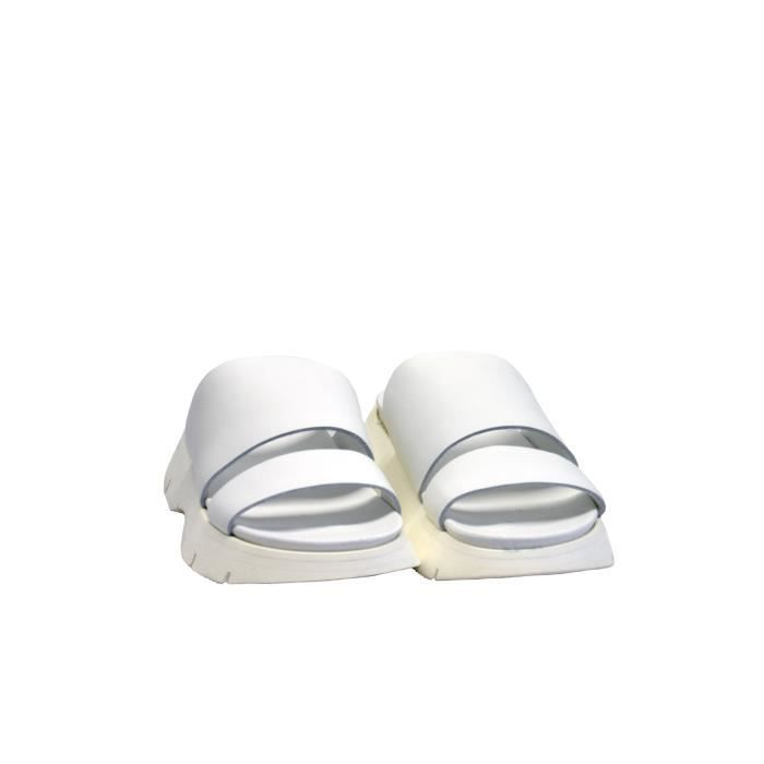 PETER NON FEMME OVRIDIAOPTIBOVINEWHITE BLANC CUIR SANDALES