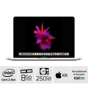 Top achat PC Portable MACBOOK PRO 13 Gris A1278 core 2 duo 8 go ram 250 go HDD disque dur clavier QWERTY pas cher