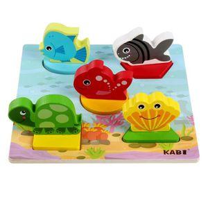 PUZZLE Puzzle  Enfants en bois pour bébé Anime 3D Puzzle