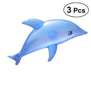 JOUET À TIRER 3pcs gonflable Dolphin Blow Up Bath Time ToyPiscin