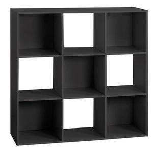 MEUBLE ÉTAGÈRE Étagère bois 9 cases mix noir Autres Noir