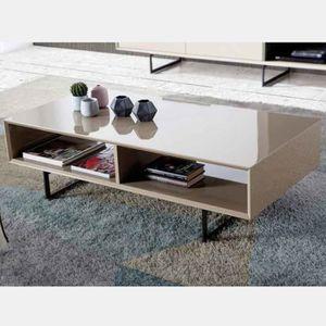TABLE BASSE Table basse design taupe MAITE