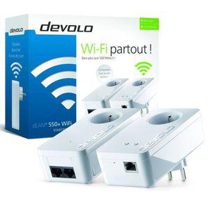 COURANT PORTEUR - CPL DEVOLO Kit CPL Wi-FI 500 Mbit/s modèle dLAN 550+ 9