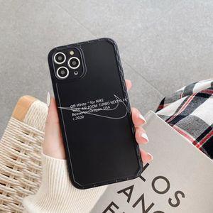 Coque iPhone 11OFF White Nike Noir Ultra Slim AntiChoc Souple Silicone Coque Compatible iPhone 11
