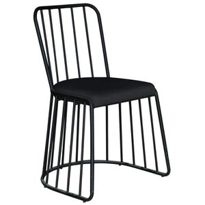 CHAISE Lot de 2 chaises design en métal Michigan Tissu No