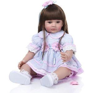 POUPÉE 60CM réaliste reborn enfant en bas âge bébé silico
