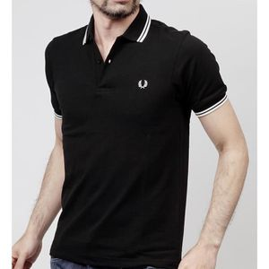 POLO Polo Fred Perry Slim Fit manches courtes M3600 noi