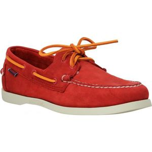 CHAUSSURES BATEAU SEBAGO Docksides velours-44-Red