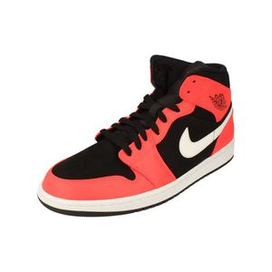 BASKET Nike Air Jordan 1 Mid Hommes Hi Top Basketball Tra