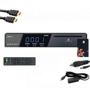 RÉCEPTEUR - DÉCODEUR   SERVIMAT Récepteur satellite HD + Carte TNTSAT V6