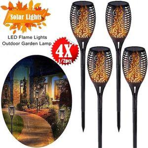 LAMPE DE JARDIN  Stillcool® 4pcs Lampe de jardin solaire flamme éti