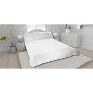 JETÉE DE LIT - BOUTIS Jeté de lit blanc 100% polyester 260x240 - Terre d
