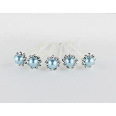 Les 5 Epingles Bleues Turquoises Accessoires Cheveux Coiffure Mariage