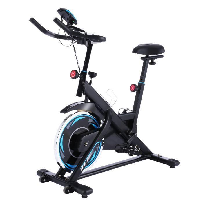 Vélo d'Appartement à l'Intérieur, Vélo Fitness avec Résistance Ajustable Écran LCD, Vélo d'Entraînement Fixe, Charge Maximale:120kg