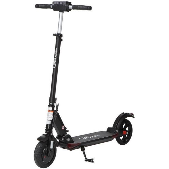GO RIDE 80PRO Night Edition - Electric scooter 8- - 350 W - 6.6Ah - Large puncture-proof wheels - Double suspension - Kickstand