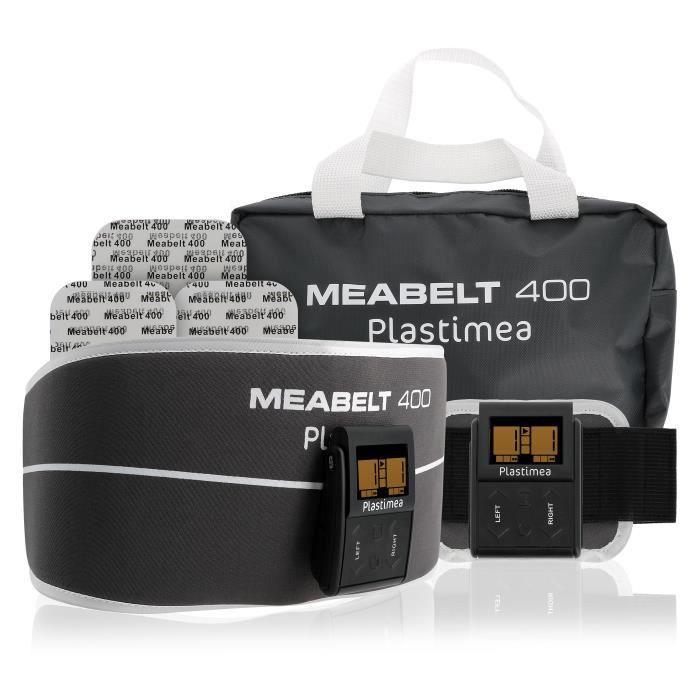 PLASTIMEA Meabelt 400 - Ceinture abdominale d'électrostimulation pour tonifier, gainer & muscler - Mixte