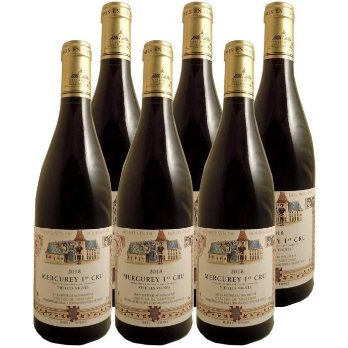VIN ROUGE Mercurey 1er Cru Vieilles Vignes Rouge 2018 - Ch&acircteau de Santenay - Vin AOC Rouge de Bourgogne - C&eacutepage P166