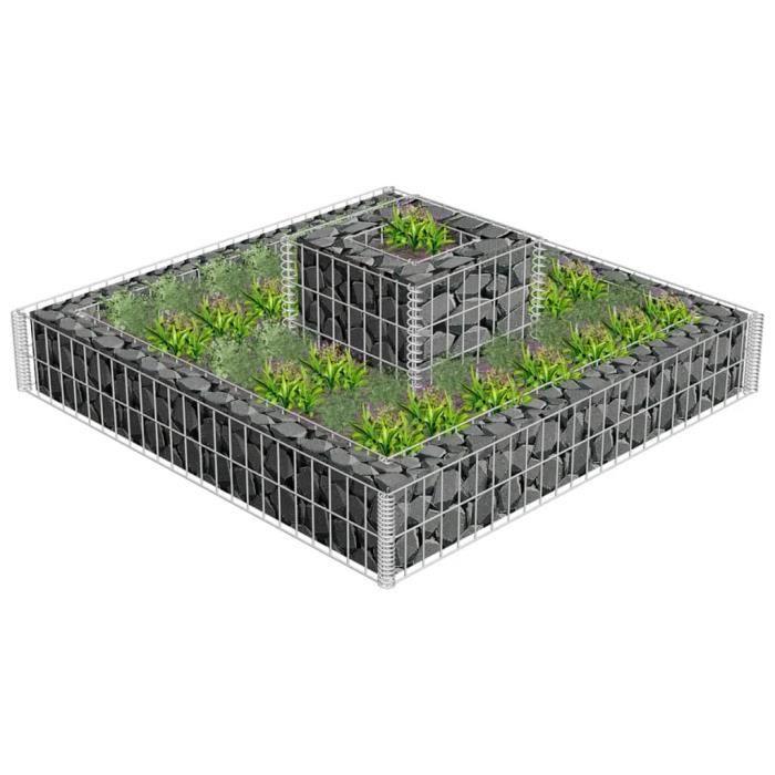 ��❤️1983 Jardinière en gabion Panier de gabion - Mur en Gabion Lit surélevé à gabion Jardinière Gabion à Pierre Déco Jardin Cage Aci