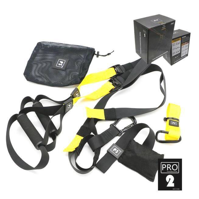 Suspension Training Belt Kit Tension Rope Full Body Workouts Kit Type de sport avec ceinture réglable pour l'exercice intérieur et e