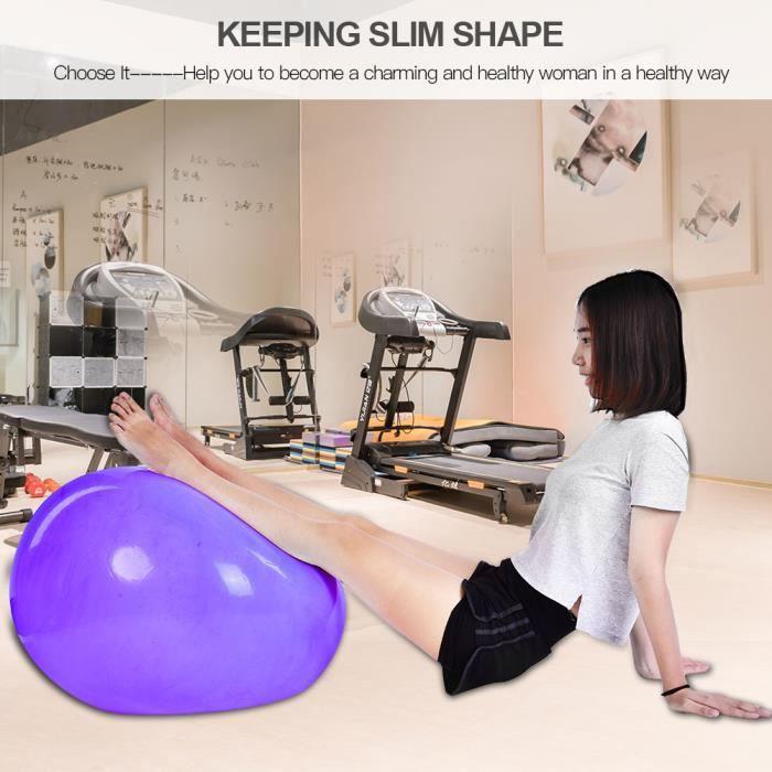 Ball 65cm Anti-burst Fitness Gym Yoga Balance Obliger Stabilité Ballon d'exercice avec pompe à air (Violet) -ZOO